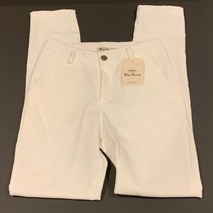 Maia Hemera White Tailored Trousers Made in Italy